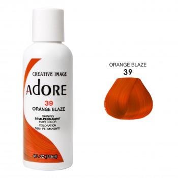 Оранжевая краска для волос - Adore Dye - Orange Blaze - для создания оранжевого цвета волос