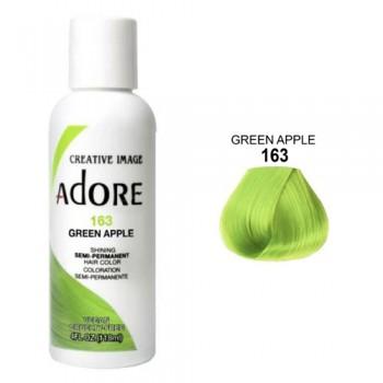 Зеленая краска для волос прямого действия - Adore - Green Apple N163